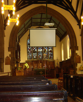 audio visual install in Church